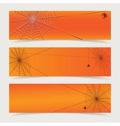 Spider web header vector