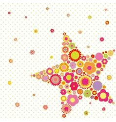 Spring summer star vector