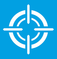 Target icon white vector