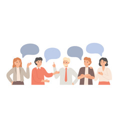 thinking team teamwork communication office vector image
