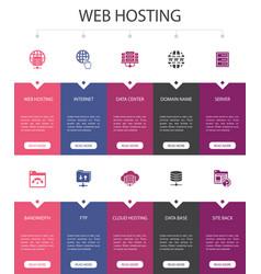 Web hosting infographic 10 option ui design vector