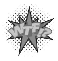 Wtf lettering aggressive abbreviation icon vector