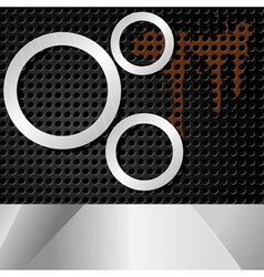 abstract background with metal rings vector image