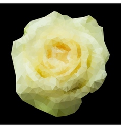 Abstract geometric polygonal white rose vector image
