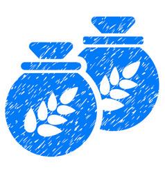 grain harvest sacks icon grunge watermark vector image vector image