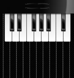 illustration of piano keys vector image vector image