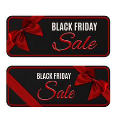 two black friday sale banners isolated on white vector image vector image
