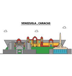 venezuela caracas outline city skyline linear vector image vector image