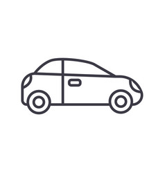 car sedan vehicle line icon sign vector image