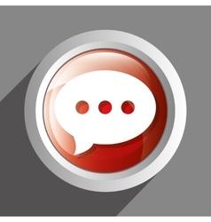 Chat icon symbol design vector image