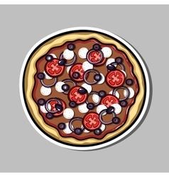 PizzaSticker7 vector image vector image