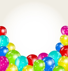Set colorful balloons for happy birthday vector image vector image