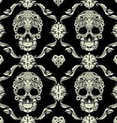 Skull Ornamental Pattern vector image vector image