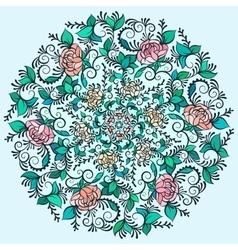 Beautiful Deco Colored contour Mandala vector image