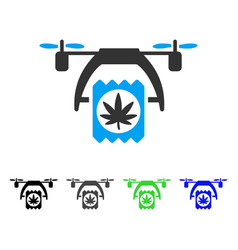 cannabis drone delivery flat icon vector image