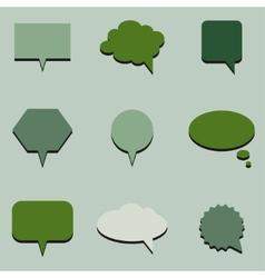 Green communication bubbles vector image