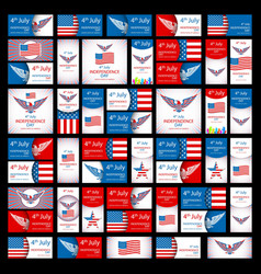 Independence day greeting card with typographic vector image