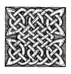 traditional celtic pattern vector image vector image