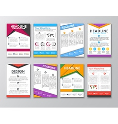 A set of brochures in the style of the material vector image vector image