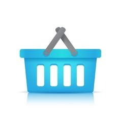 blue shopping cart vector image