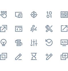 Developer icons Line series vector image