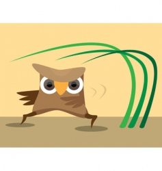 karate owl vector image vector image