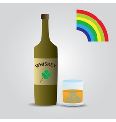 Whiskey in glass eps10 vector