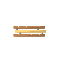 wooden construction icon in flat style vector image vector image