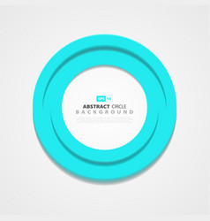 abstract circle blue cover design element vector image