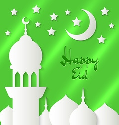 Applique with paper mosque vector image
