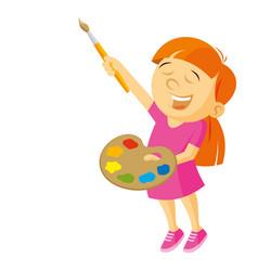 Artist girl vector