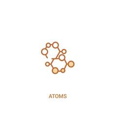 Atoms concept 2 colored icon simple line element vector