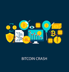 Bitcoin crash concept vector