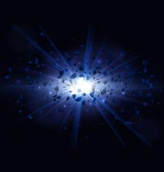 blue big explosion vector image