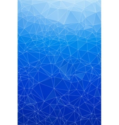 Blue ice abstract background polygon vector