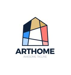 Bright colorful art house logo creative logotype vector