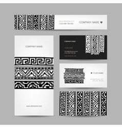 Business cards collection ethnic ornament for your vector image vector image