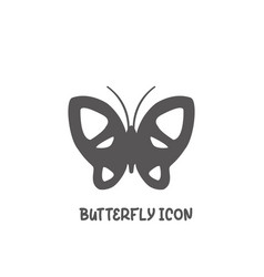 butterfly icon simple flat style vector image