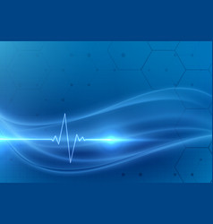 Cardio heartbeat medical background design vector