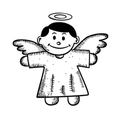 Cartoon angel doodle vector