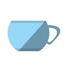 Cartoon cup coffee porcelan utensil shadow vector