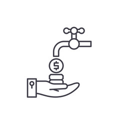 cash flow line icon concept cash flow vector image
