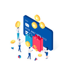 Cashback rewards and loyalty program concept vector