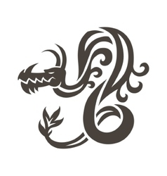 Chinese dragon on white background vector image