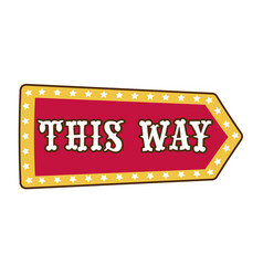 circus show isolated icon direction or way vector image
