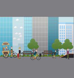 City street concept flat vector