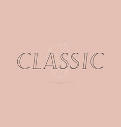 classic font sans serif italic style vector image