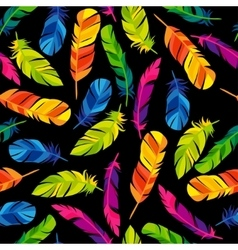 Colorful seamless pattern with bright abstract vector image