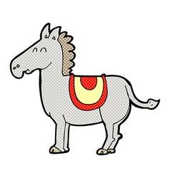 Comic cartoon donkey vector