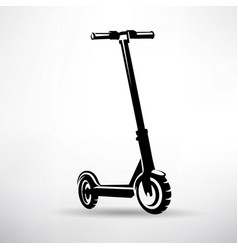 Electric scooter symbol vector